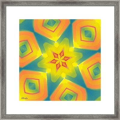 Kaleidoscope Series Number 8 Framed Print by Alec Drake