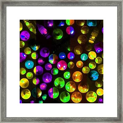 Kaleidoscopic Deconstruction Framed Print by Amy DiPasquale