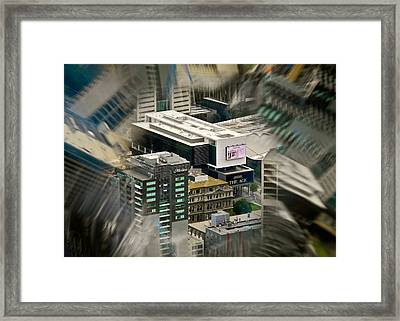 Kaleidoscopic View Of City Framed Print by Kirsten Giving