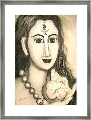 Kali Goddess 's Nice Mom  Framed Print