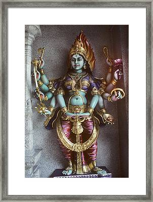Kali Statue In Singapore Framed Print by Carl Purcell