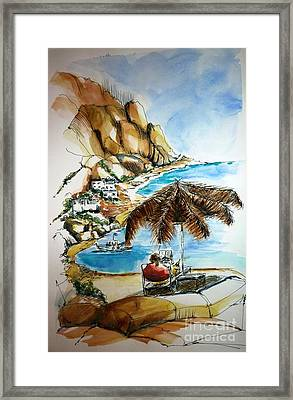 Framed Print featuring the painting Kalymnos 2 by Therese Alcorn