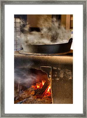 Framed Print featuring the photograph Kamado by Tad Kanazaki