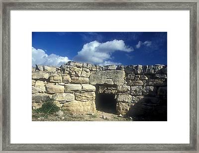 Kamilari Vaulted Tomb Framed Print by Andonis Katanos