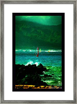 Kanaha Windsurfers Framed Print by Susanne Still