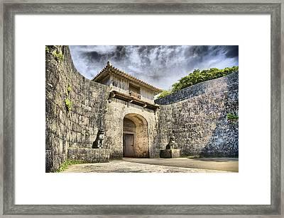 Kankaimon Gate  Framed Print by Karen Walzer