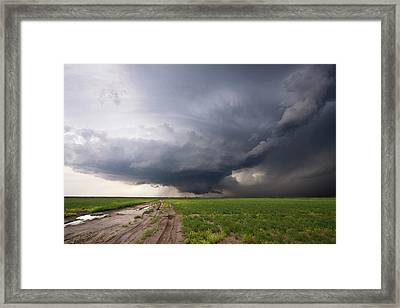 Kansas Distant Tornado Vortex 2 Framed Print by Ryan McGinnis