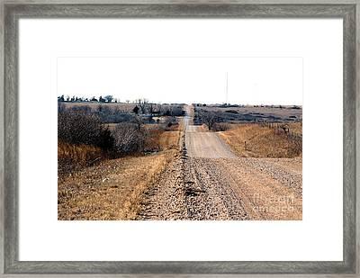 Kansas Gravel Road Framed Print