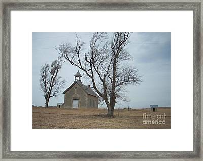 Kansas Stone Church Framed Print