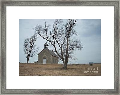 Kansas Stone Church Framed Print