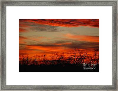Framed Print featuring the photograph Kansas Sunset by Mark McReynolds