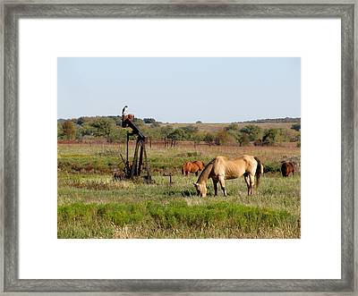Kansas Tableaux Framed Print by Keith Stokes