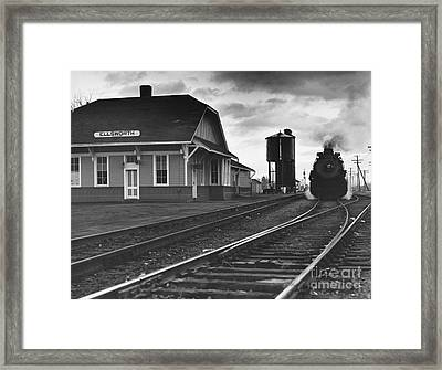 Kansas Train Station Framed Print by Myron Wood and Photo Researchers