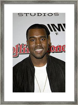 Kanye West At Arrivals For Sin City Framed Print