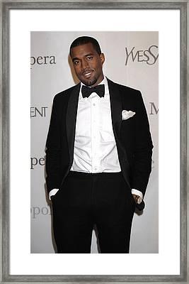 Kanye West At Arrivals For The Framed Print
