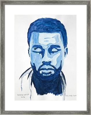 Kanye West Framed Print by Michael Ringwalt