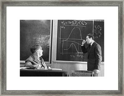 Kapitsa And Androv, Russian Physicists Framed Print by Ria Novosti