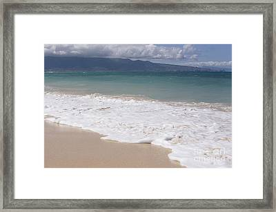 Kapukaulua - Purely Celestial - Baldwin Beach Paia Maui Hawaii Framed Print by Sharon Mau