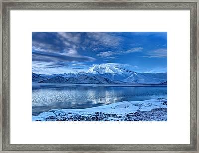 Karakuri Lake-kashgar Framed Print