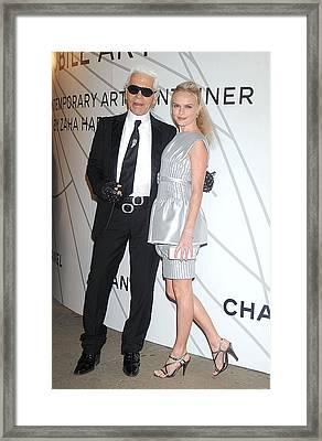 Karl Lagerfeld, Kate Bosworth Wearing Framed Print by Everett