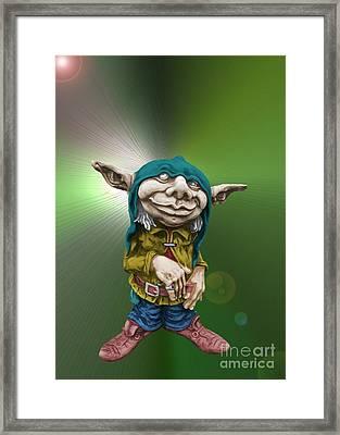 Karlchen The Goblin Framed Print by Sandra Beikirch