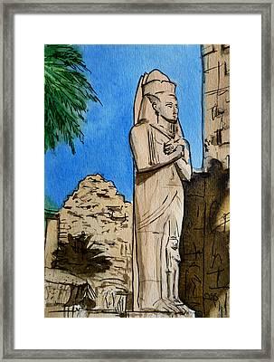 Karnak Temple Egypt Framed Print by Irina Sztukowski