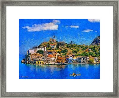 Kastelorizo Island Framed Print by George Rossidis