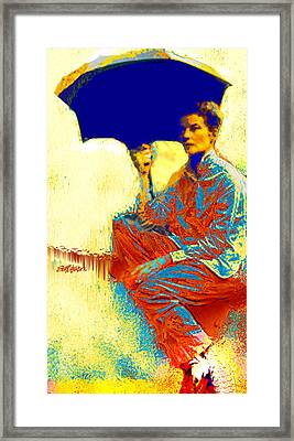 Kate And The Umbrella Framed Print by Seth Weaver