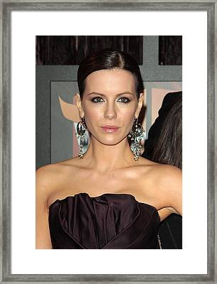 Kate Beckinsale At Arrivals For 14th Framed Print by Everett