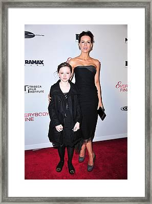 Kate Beckinsale, Daughter Lily Sheen Framed Print