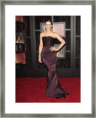 Kate Beckinsale Wearing A J. Mendel Framed Print