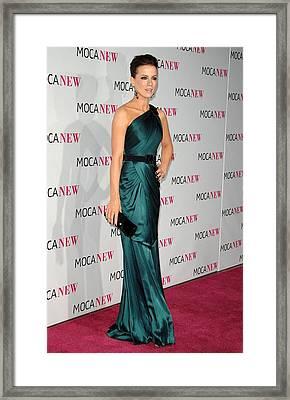 Kate Beckinsale Wearing An Andrew Gn Framed Print