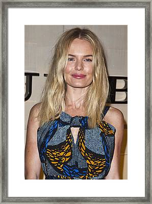 Kate Bosworth At Arrivals For Burberry Framed Print by Everett