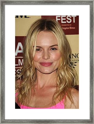 Kate Bosworth At Arrivals For Lfe Framed Print by Everett