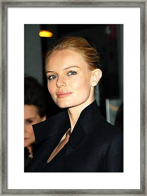 Kate Bosworth At Arrivals For Screening Framed Print by Everett