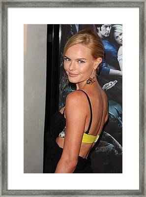 Kate Bosworth At Arrivals For True Framed Print