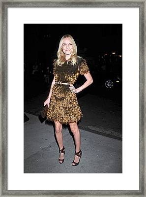 Kate Bosworth Wearing A Burberry Framed Print