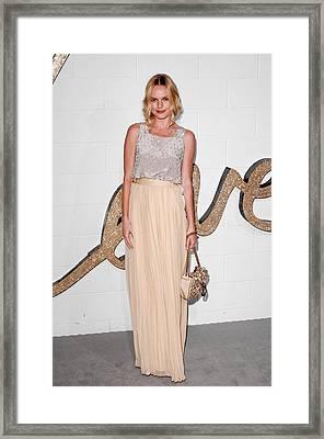 Kate Bosworth Wearing A Chloe Top Framed Print by Everett