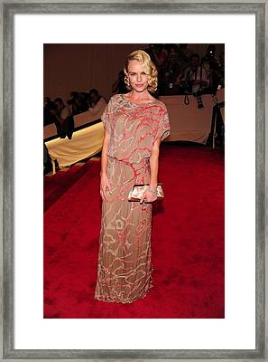Kate Bosworth Wearing A Gown Framed Print by Everett