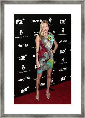 Kate Bosworth Wearing A Peter Pilotto Framed Print