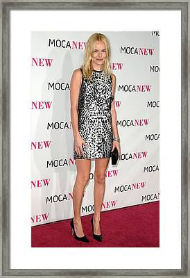 Kate Bosworth Wearing A Proenza Framed Print by Everett