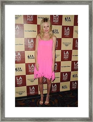 Kate Bosworth Wearing A Richard Nicoll Framed Print