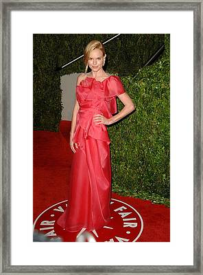 Kate Bosworth Wearing A Valentino Gown Framed Print