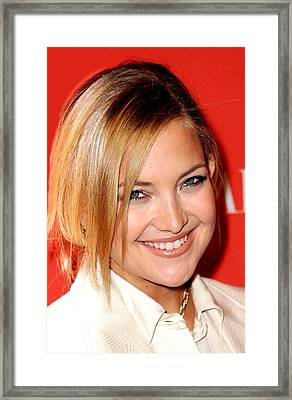 Kate Hudson At Arrivals For Times 100 Framed Print by Everett