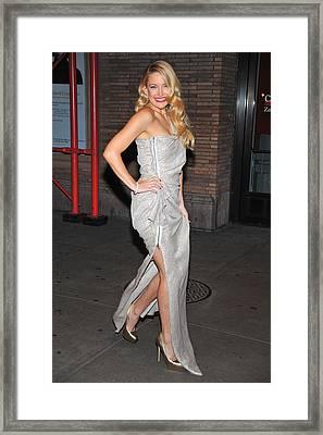 Kate Hudson Wearing Lanvin Gown Framed Print