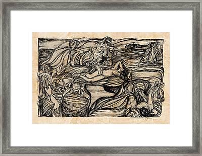 Kate Middleton's Naked Knightmares Framed Print by Russell Scott-Skinner