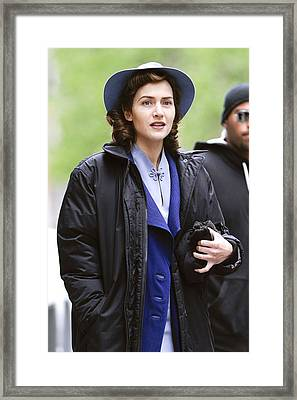 Kate Winslet Out And About For Mildred Framed Print by Everett