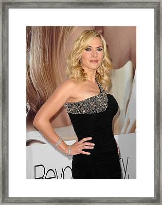 Kate Winslet Wearing A Balmain Dress Framed Print by Everett