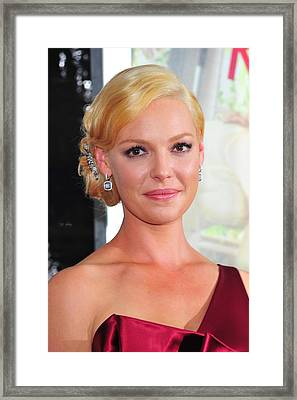 Katherine Heigl At Arrivals For Life As Framed Print