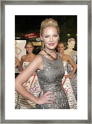 Katherine Heigl Wearing A Bill Blass Framed Print by Everett